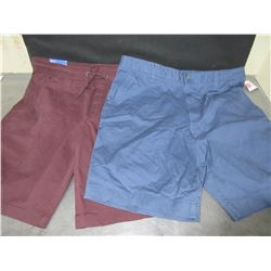 "2 New Pair Mens Shorts 34"" waist"