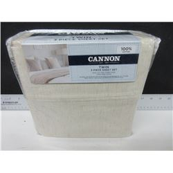 New Cannon 3 piece Twin Sheet Set