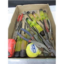 Flat of Screwdrivers , Pliers and more