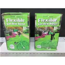 2 Flexible Garden Hose 50ft each / UNTESTED as-is