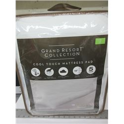 New Full Grand Resort Collection Cool Touch Mattress Pad/Tempa Cool