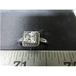 New Micro Pave' Cubic Zirconia Ring size 8