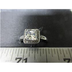 New Micro Pave' Cubic Zirconia Ring size 9
