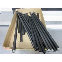 "New Threaded Metal Poles great for Plant Supports / 17-15 & 11"" lengths"