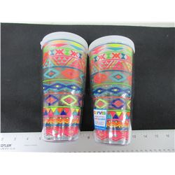 2 New Tervis Hot& Cold 24oz Tumblers / 24.99 tags each/ Made in USA