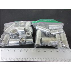 "2 Bags Craftsman/Mastercraft Assorted 3/8 & 1/2"" Drive Sockets/ 1 bag is"