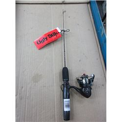 New Ugly Stick Ice Fishing Rod & Reel /  Reel needs handle Rod is excellent