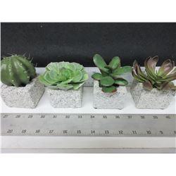 4 Home décor Faux Cactus