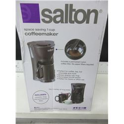 New Salton 1 cup Coffee Maker/comes with Ceramic Mug & permanent Filter