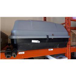 GREY ROOFTOP CARGO BOX W/ 2 KEYS