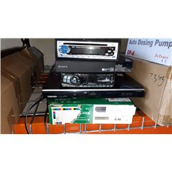 2 BLURAY PLAYERS, ALPINE CAR DECK AND DVD PLAYER