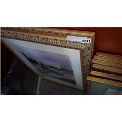 TWO FAIRMONT HOTEL GILDED FRAME PICTURES