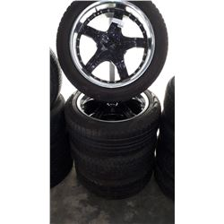 SET OF 4 PIRELLI SCORPION STRA 245/50R20 TIRES ON 5 BOLT RIMS FOR FORD OR CHEVY