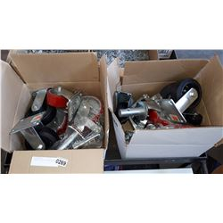2 BOXES OF VARIOUS NEW CASTERS