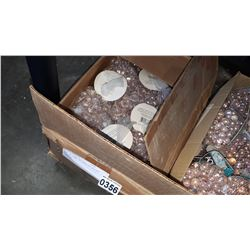 BOX OF NEW DECORATIVE ACCENT MARBLES RETAIL $50