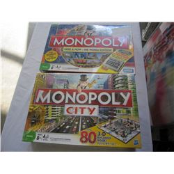 NEW MONOPOLY CITY GAME AND NEW MONOPOLY WORLD GAME