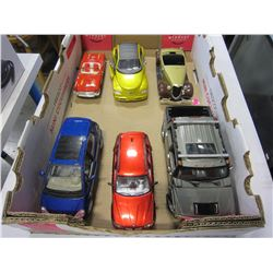 LOT OF 6 DIECAST CARS