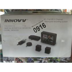 INNOV HD MOTORCYCLE RECORDING SYSTEM, UNTESTED