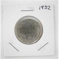 Canada 1932 Silver 25c.