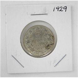 Canada 1929 Silver 25.