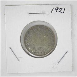 Canada 1921 Silver 25c.