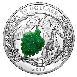 2017 $20 Brilliant Birch Leaves with Drusy Stone -