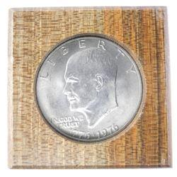 USA Liberty $1 in Wood Slab.