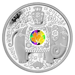 2013 $15 Maple of Peace - Pure Silver Coin - Eleph