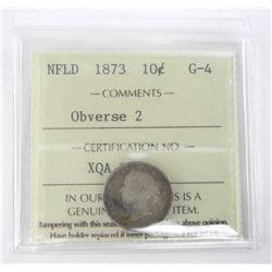 NFLD 1873 10 Cent (G-4) Obverse 2. ICCS.