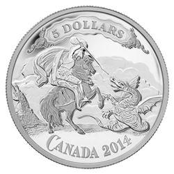 2014 $5 Canadian Bank Note Series: Saint George Sl