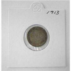Canada 1913 Silver 10c.