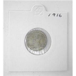 Canada 1916 Silver 10c.