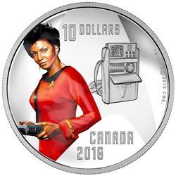 2016 $10 Star TrekTM: Uhura - Pure Silver Coin
