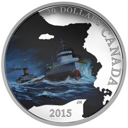 2015 - $20 SS Edmund Fitzgerald .9999 Fine Silver.