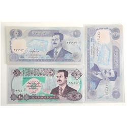 Lot (3) Bank of Iraq - 1992 and 1994 Ten Dinaras a