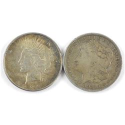 Lot (2) USA Silver Dollars 1921 and 1923