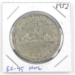 1952 Canada Silver Dollar EF45. NWL