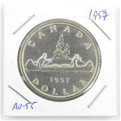 1957 Canada Silver Dollar AU-55