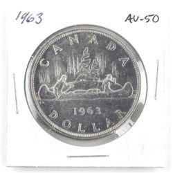 1963 Canada Silver Dollar AU50