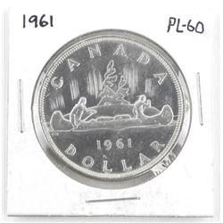 1961 Canada Silver Dollar PL-60