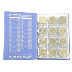 Lot (48) Canada Nickel Dollars