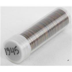 Estate Tube 1945 George VI Canada One Cent