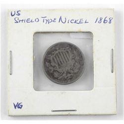 USA Shield Type Nickel 1868ξ