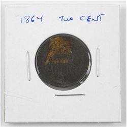 1864 USA 2 cents