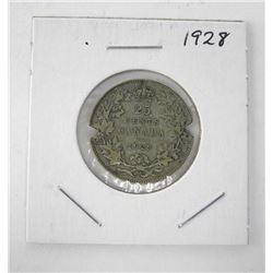 Canada 1928 Silver 25c.