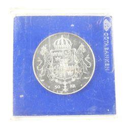 .925 Silver Swedish 50 KR.