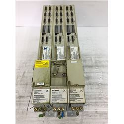 (3) SIEMENS 6SN1162-1AA00-0AA0 SIMODRIVE W/ 6S1115-0BA11-0AA1 CARD