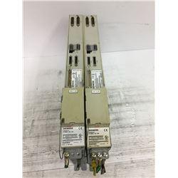 (2) SIEMENS 6SN1123-1AA00-0CA1 SIMODRIVE W/6SN1118-0DM21-0AA0 CARD