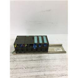 SIEMENS 6ES7 392-1AE80-0AA0 MOUNTAIN RAIL WITH MODULES
