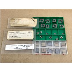 (27) MISC. CARBIDE INSERT *SEE PICS FOR PART #*